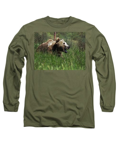 Wild Life Safari Bear Long Sleeve T-Shirt
