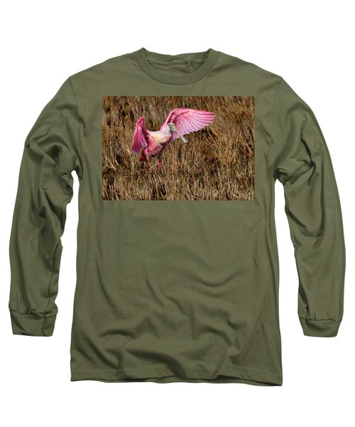 Wings Of Pink And Silk Long Sleeve T-Shirt