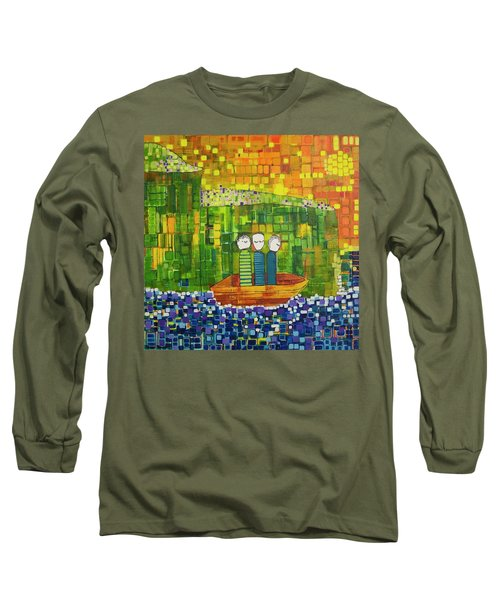 Long Sleeve T-Shirt featuring the painting Wink Blink And Nod by Donna Howard