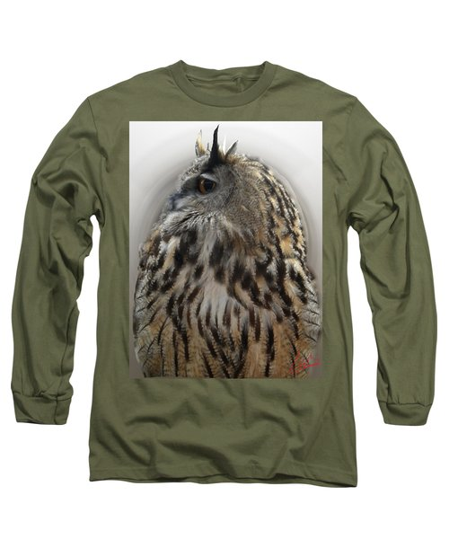 Wise Forest Owl Alicante Region Spain Long Sleeve T-Shirt