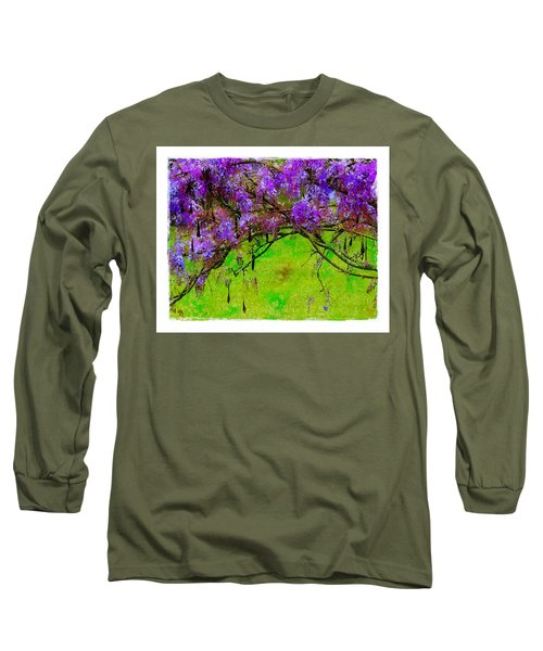 Wisteria Bower Long Sleeve T-Shirt by Judi Bagwell