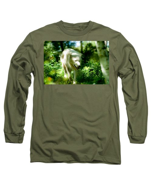 Wolf In The Forest Long Sleeve T-Shirt