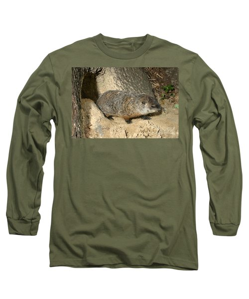 Woodchuck Long Sleeve T-Shirt by Ted Kinsman