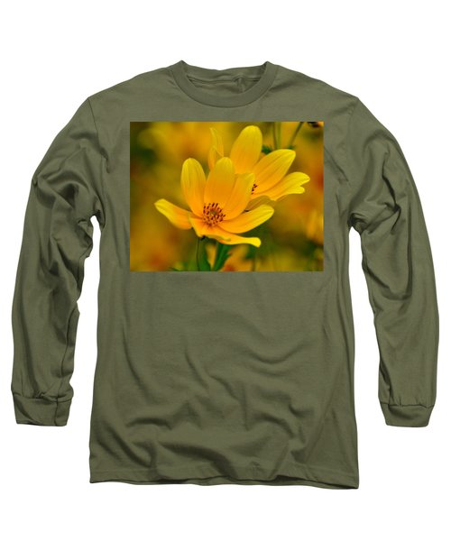 Long Sleeve T-Shirt featuring the photograph Yellow Blaze by Marty Koch