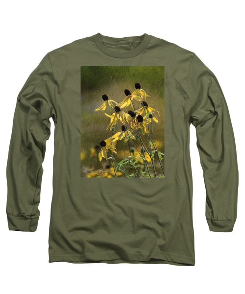 Yellow Coneflowers Long Sleeve T-Shirt