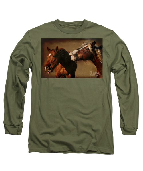 Long Sleeve T-Shirt featuring the photograph You're Too Funny by Davandra Cribbie