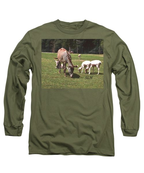 Zebra's Grazing Long Sleeve T-Shirt