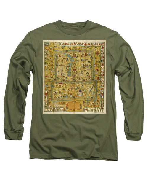 A Map And History Of Peiping Long Sleeve T-Shirt