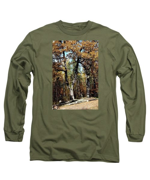 Autumn In Forest Long Sleeve T-Shirt by Henryk Gorecki