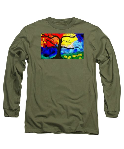 Long Sleeve T-Shirt featuring the painting  Before The Bloom by Patricia Arroyo