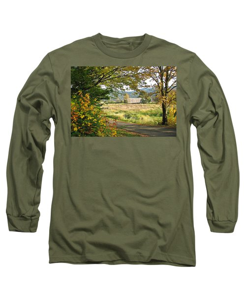 Fall At Grays River Covered Bridge Long Sleeve T-Shirt