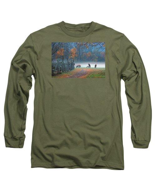 Oconaluftee Visitor Center Elk Long Sleeve T-Shirt