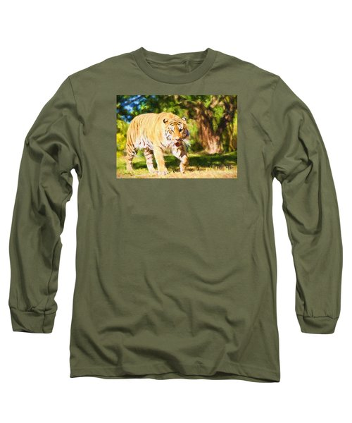 Long Sleeve T-Shirt featuring the painting  On The Prowl by Judy Kay