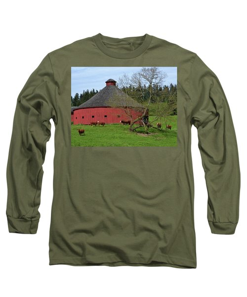 Round Red Barn Long Sleeve T-Shirt