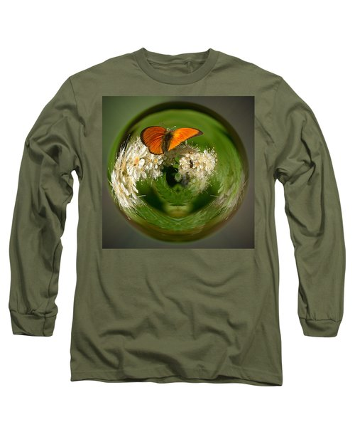 Long Sleeve T-Shirt featuring the photograph  Scarce Copper 3 by Jouko Lehto