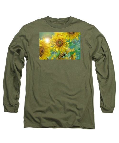 Long Sleeve T-Shirt featuring the photograph  Sunflower by Lila Fisher-Wenzel