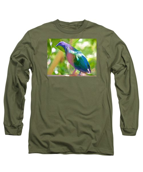 Long Sleeve T-Shirt featuring the photograph  The Pose by Judy Kay