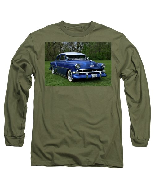 1954 Chevrolet Street Rod Long Sleeve T-Shirt by Tim McCullough