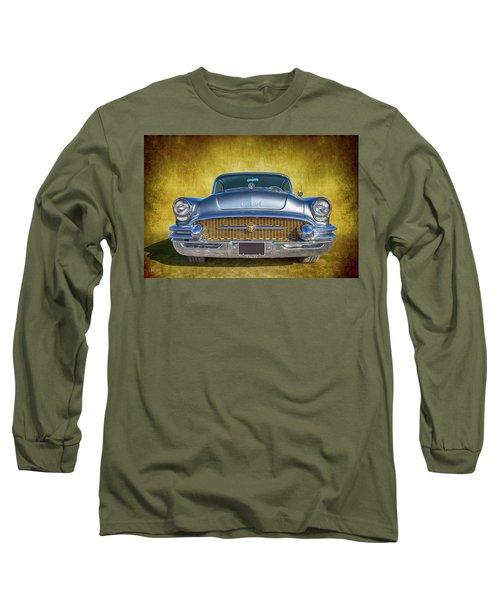 1955 Buick Long Sleeve T-Shirt by Keith Hawley