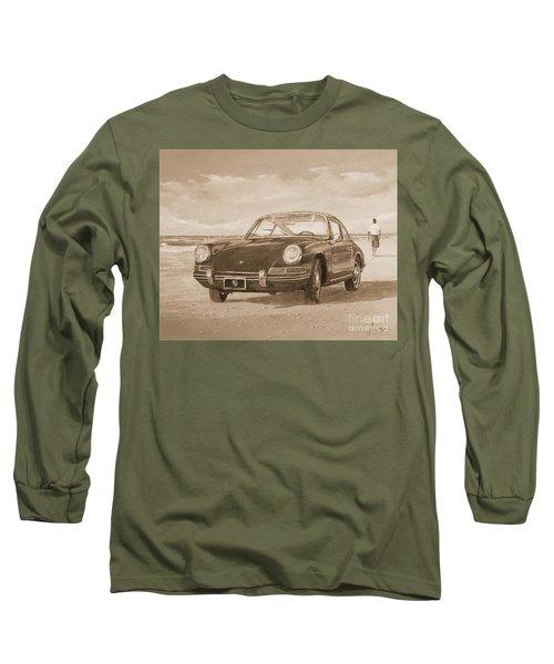 1967 Porsche 912 In Sepia Long Sleeve T-Shirt