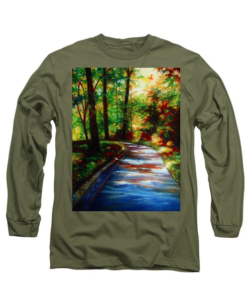 A Morning Walk Long Sleeve T-Shirt by Emery Franklin