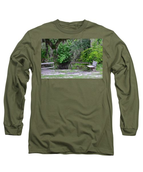 Long Sleeve T-Shirt featuring the photograph A Place To Rest by Carol  Bradley