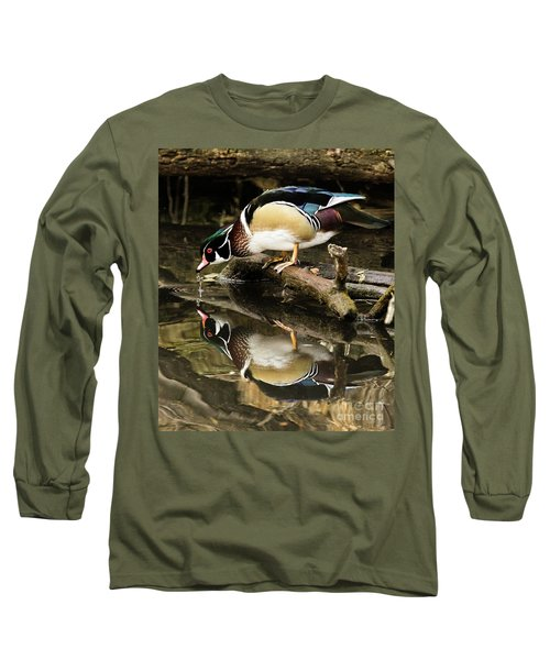 A Sip For You And Me Wildlife Art By Kaylyn Franks Long Sleeve T-Shirt