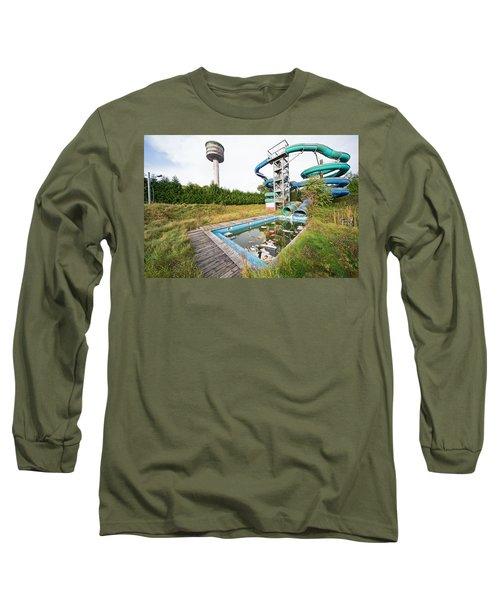 abandoned swimming pool - Urban exploration Long Sleeve T-Shirt
