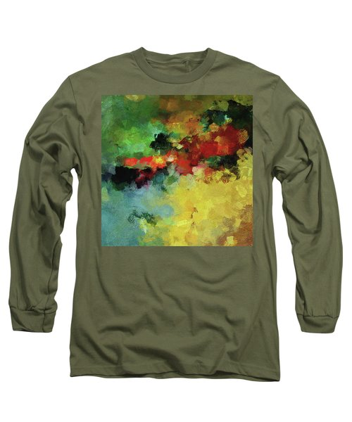 Abstract And Minimalist  Landscape Painting Long Sleeve T-Shirt by Ayse Deniz