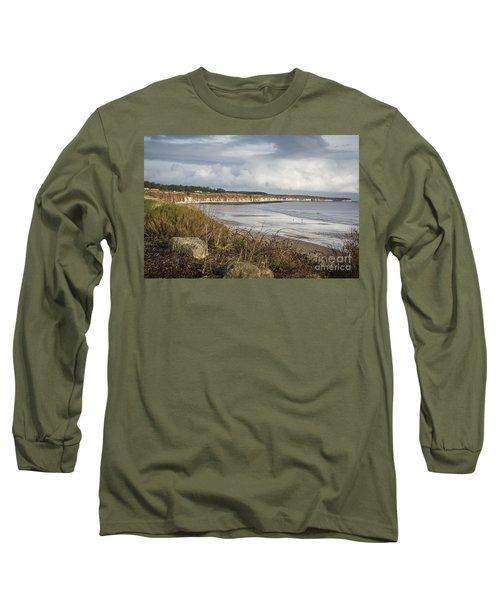 Across The Bay Long Sleeve T-Shirt by David  Hollingworth