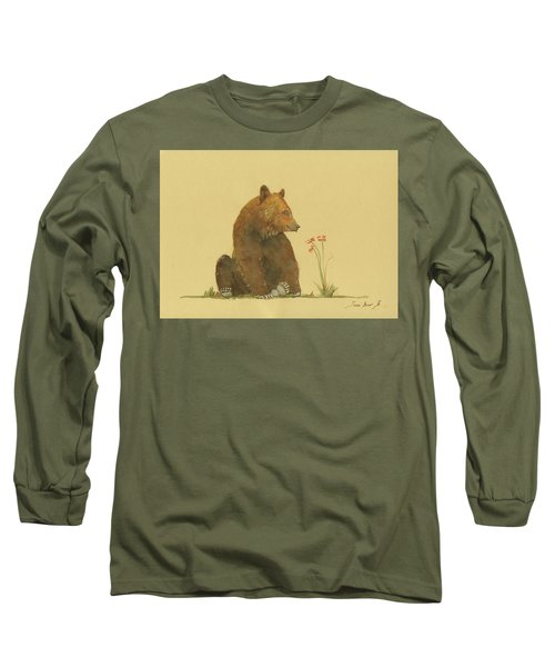 Alaskan Grizzly Bear Long Sleeve T-Shirt