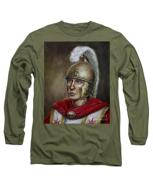 Alexander The Great Long Sleeve T-Shirt by Arturas Slapsys