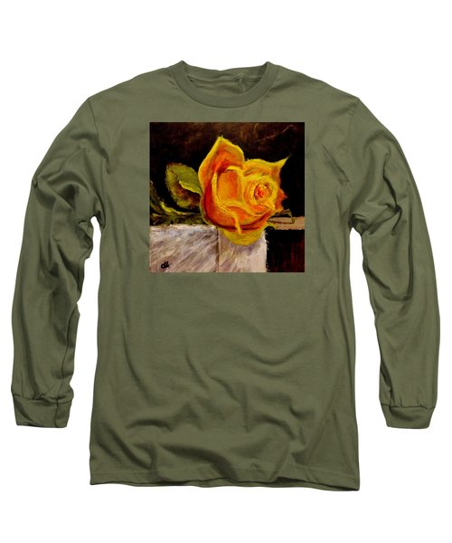 Long Sleeve T-Shirt featuring the painting Alone.. by Cristina Mihailescu