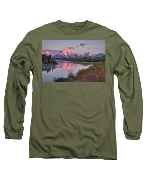 Alpenglow At Oxbow Bend Long Sleeve T-Shirt