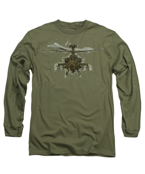 Apache Helicopter Long Sleeve T-Shirt by Roy Pedersen