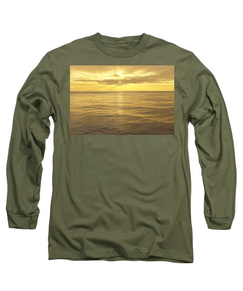 Long Sleeve T-Shirt featuring the digital art Ocean View by Mark Greenberg