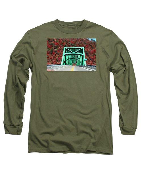 Autumn Bridge Long Sleeve T-Shirt by Michael Rucker