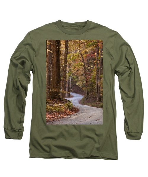 Autumn Drive Long Sleeve T-Shirt by Andrew Soundarajan