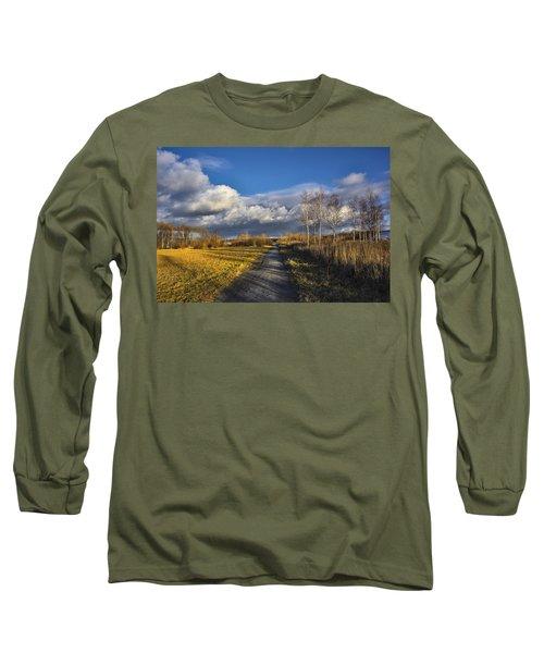 Autumn Evening Long Sleeve T-Shirt by Vladimir Kholostykh