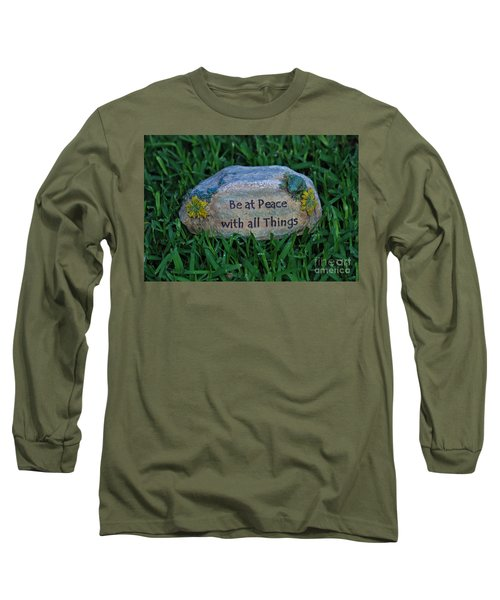Long Sleeve T-Shirt featuring the photograph 1- Be At Peace by Joseph Keane