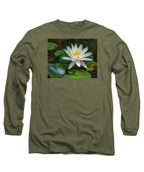 Long Sleeve T-Shirt featuring the photograph Beautiful Lotus by Susi Stroud