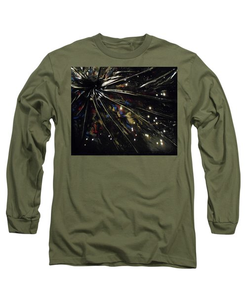 Long Sleeve T-Shirt featuring the mixed media Black Hole by Angela Stout