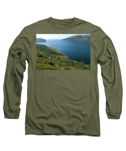 Blue Fjord Long Sleeve T-Shirt by Tamara Sushko