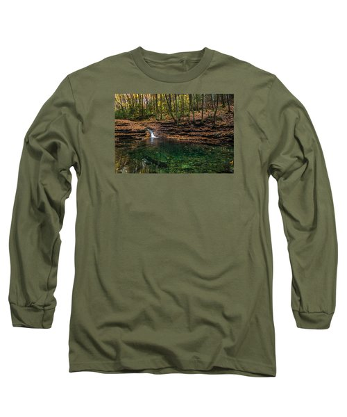 Blue Ridge Cascade Long Sleeve T-Shirt by Serge Skiba
