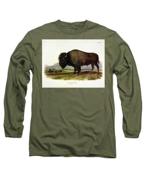 Bos Americanus, American Bison, Or Buffalo Long Sleeve T-Shirt
