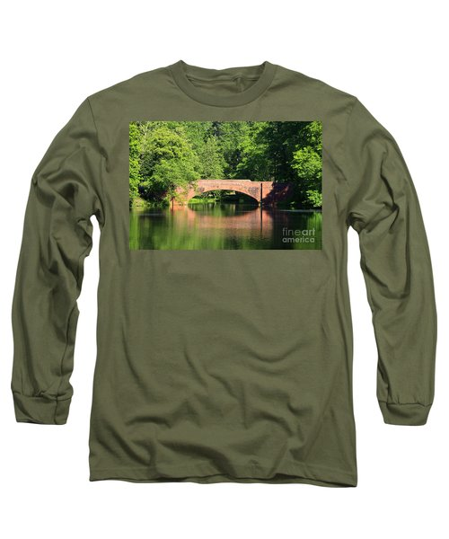 Bridge Reflection In The Spring Long Sleeve T-Shirt