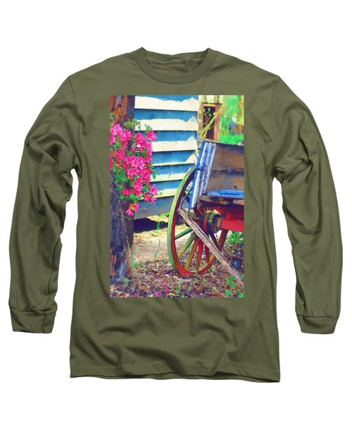 Long Sleeve T-Shirt featuring the photograph Broken Wagon by Donna Bentley