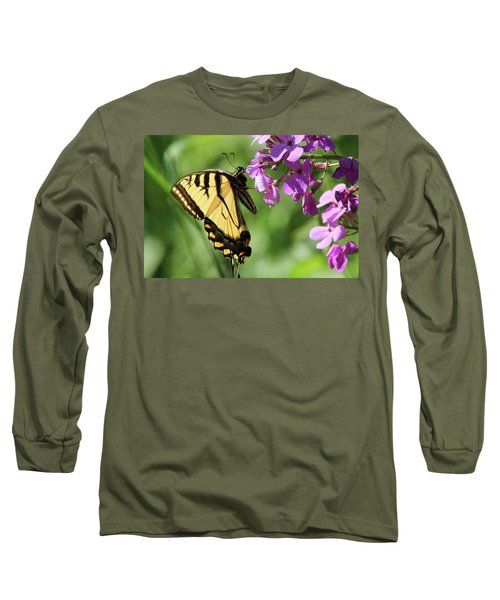 Butterfly Long Sleeve T-Shirt by David Stasiak