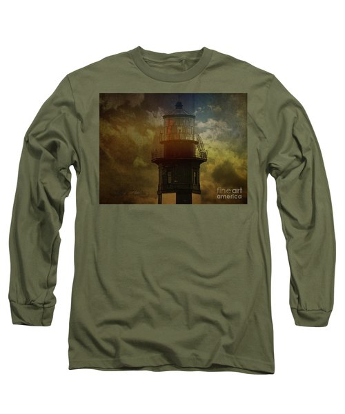 Cape Henry Lighthouse Long Sleeve T-Shirt by Melissa Messick