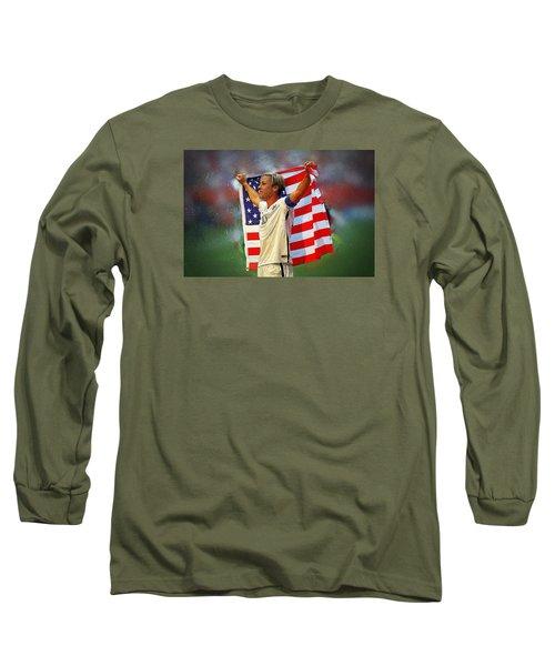 Carli Lloyd Long Sleeve T-Shirt by Semih Yurdabak